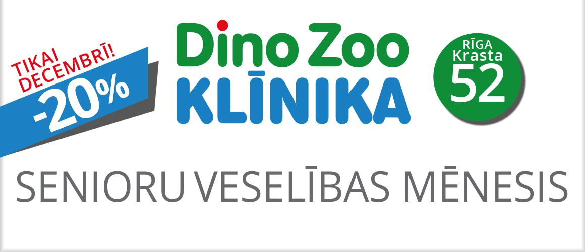 DINO ZOO KLĪNIKA senioru mēnesis -20%