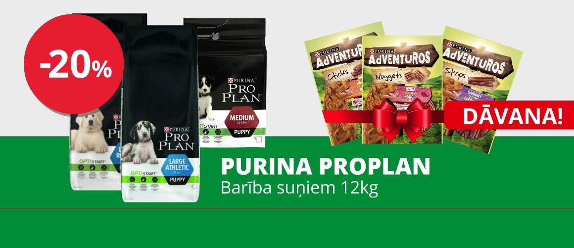 Purina ProPlan 12kg + DĀVANA x3