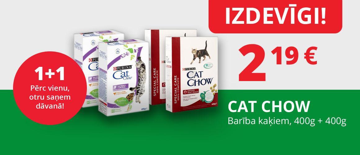CAT CHOW barība kaķiem 1+1