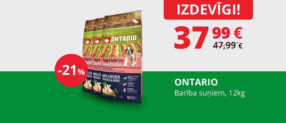 ONTARIO - Barība suņiem, 12 kg
